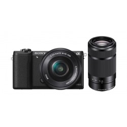 Sony Alpha A100Y Mirrorless Digital Camera +16-50mm Lens + Sony 55-210mm