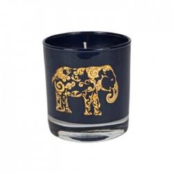 Amber Candle 210g - Dark Blue