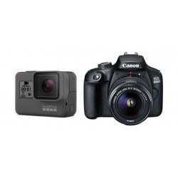 Canon EOS 4000D 18MP Wi-fi With 18-55 Lens DC + GoPro HERO (2018) With Touch LCD