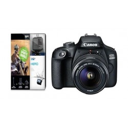Canon EOS 4000D 18MP Wi-fi With 18-55 Lens DC + GoPro Hero Action Camera + Essential Sports Bundle 3-in-1
