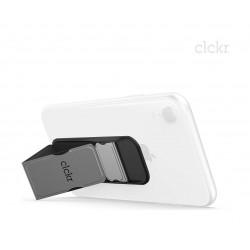 Clckr Universal Smartphones Small Grip (34294) - Metalic Silver