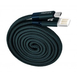 Promate Coiline-C Auto-Rolling Reversible 3.2Ft USB-A to Type-C Cable - Blue
