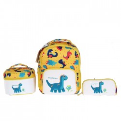 EQ Kids 3 in 1 Dino Backpack Set - Yellow (Large)