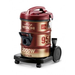 Hitachi 2000W 18L Drum Type Vacuum Cleaners (CV-950Y) – Red
