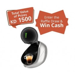 Dolce Gusto Nescafe 1500W 1L Movenza Coffee Machine - Silver + Raffle Draw Coupon