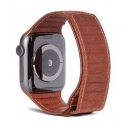 Decoded Traction Leather Apple Watch 42/44mm Strap - Brown