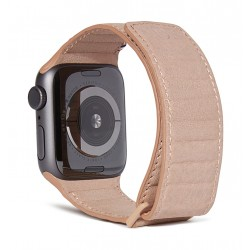 Decoded Traction Leather Apple Watch 38/40mm Strap - Pink