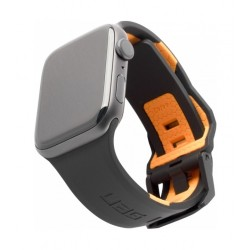 UAG Civilian 44mm Strap for Apple Watch - Black/Orange