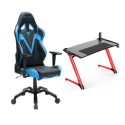 DXRacer Valkyrie Series Blue Chair and E-Sports Gaming Desk in Kuwait | Buy Online – Xcite