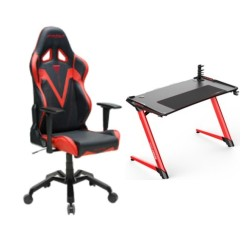 DXRacer Valkyrie Series RedChair and E-Sports Gaming Desk in Kuwait | Buy Online – Xcite
