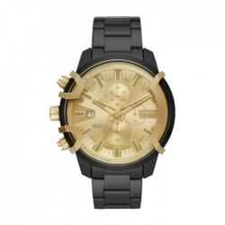 Diesel Griffed Quartz Chrono 48mm Men's Watch - Black / Gold (DZ4525)