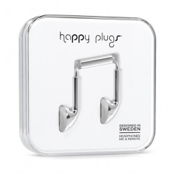 Happy Plugs Earbud Earphones – Silver