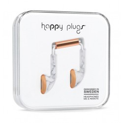 Happy Plugs Earbud Earphones – White Marble