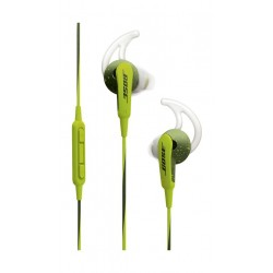 Bose SoundSport In-Ear Wired HeadPhones For Apple/IOS- Energy Green