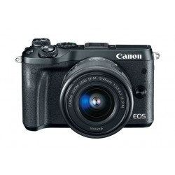 Canon EOS M6 24MP Mirrorless Digital Camera with 15-45mm Lens (Black)