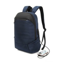"EQ 2021 USB Port 15.6"" Backpack (KLB200311) - Navy"
