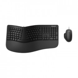 Microsoft Ergonomic Desktop Wired Keyboard and Mouse in Kuwait | Buy Online – Xcite