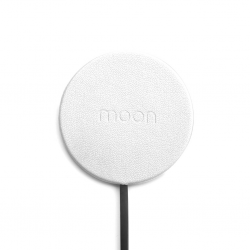 Moon Waterproof Charging Pad - White Leather