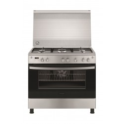 Frigidaire 90x60 5-Burner Free-Standing Gas Cooker (FNGE90JGRSO) - Silver