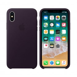 Apple Leather Case For iPhone 10 (MQTG2ZM/A) –  Dark Auberging