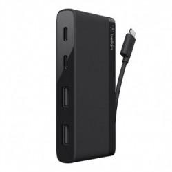 Belkin 4-Port Mini Hub USB Type-C (F4U090bt) - Black