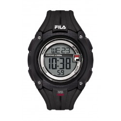 Fila 46mm Gent's Digital Rubber Sports Watch (38132001) - Black