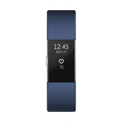 Fitbit Charge 2 Fitness Tracker (Large) – Blue / Silver