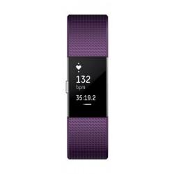 Fitbit Charge 2 Fitness Tracker (Large) – Plum / Silver