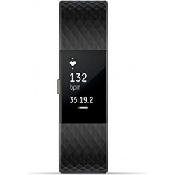 Fitbit Charge 2 Fitness Tracker (Large) – Black Gunmetal