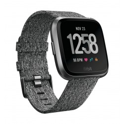Fitbit Unisex Versa Health and Fitness Woven Smartwatch (FB505BKGY) - Charcoal