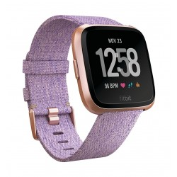 Fitbit Unisex Versa Health and Fitness Woven Smartwatch (FB505RGLV) - Lavender