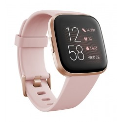 Fitbit Versa 2 Health & Fitness Smartwatch Standard Edition (FB507RGPK) - Rosegold Pink Aluminum