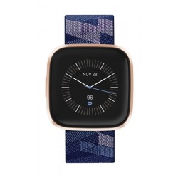 Fitbit Versa 2 Health & Fitness Smartwatch Special Edition (FB507RGNV) - Navy Rosegold Aluminum