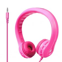 Flexure Super Flexible Wire Headphone For Kids - Pink