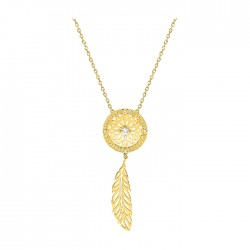Fontenay Ladies Necklace - Brass - Gold Plated  (DSC337Z40E) in Kuwait | Xcite Alghanim