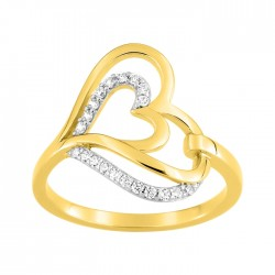 Fontenay Ladies Ring - Brass - Gold Plated 54 (DSR371Z-54) in Kuwait   Xcite Alghanim