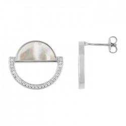 Fontenay Ladies Earrings - Brass - Rhodium Plated  (FSW369PZ) in Kuwait | Xcite Alghanim