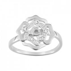 Fontenay Ladies Ring - Brass - Rhodium Plated 54 (FSR370Z-54) in Kuwait   Xcite Alghanim