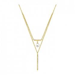 Fontenay Ladies Necklace - Brass - Gold Plated  (DSC346Z40E) in Kuwait | Xcite Alghanim