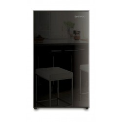 Daewoo 4 Cft. Single Door Refrigerator (FR15B) - Black Glass