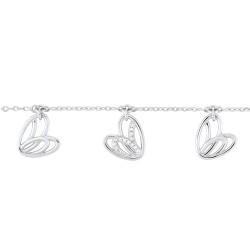 Fontenay Ladies Bracelet - Brass - Rhodium Plated  (FSBZ13Z20E)