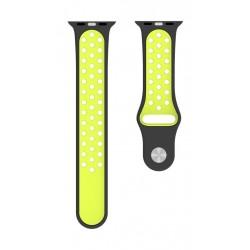 Behello Premium Apple Watch 42/44mm Silicone Strap - Black