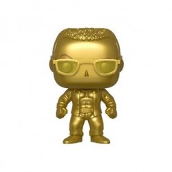 Funko Pop The Rock Gold Metallic Action Figure