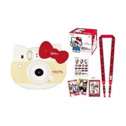 Fuji Instax Mini Hello Kitty Instant Film Camera - Red + Film Kit