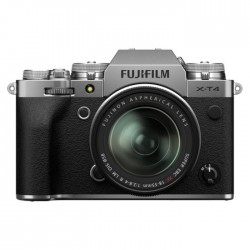 FUJIFILM X-T4 Mirrorless Digital Camera with 18-55mm Lens Silver 26.1MP APS-C X-CMOS 4 Sensor