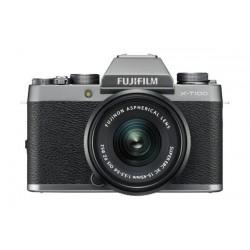 Fujifilm X-T100 Mirrorless Digital Camera w/ XC15-45mm Lens - Silver
