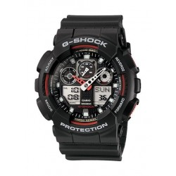 Casio G-Shock Resin Band Sport Watch For Men  (GA-100-1A4DR)
