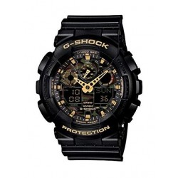 Casio G-Shock Resin Band Analog-Digital Men's Sport Watch (GA-100CF-1A9DR)