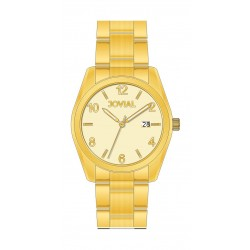 Jovial GG2010-07 Casual Analog Gents Watch - Metal Strap - Gold