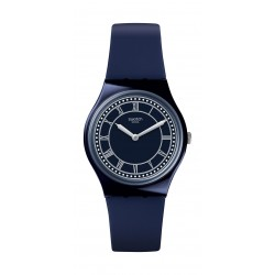 Swatch Blue Ben Analog Quartz 34mm Rubber Watch (GN254) - Blue